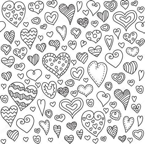doodle pattern love love hearts seamless pattern doodle heart romantic
