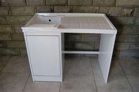 mobile lavatoio da esterno mobile coprilavatrice con lavatoio da 108 cm in resina per