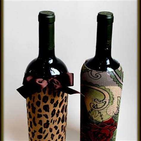 wine bottle gift wrapping wine bottle skins re purposed gift wrapping tip junkie