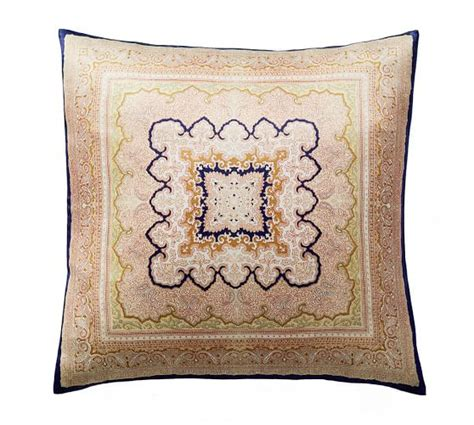 pattmore printed silk pillow cover pottery barn