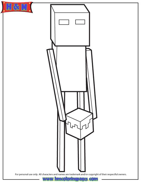 minecraft coloring pages enderman cartoon enderman colou