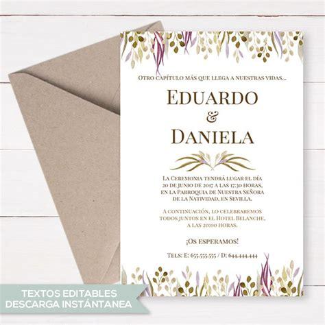 .40 plantillas vectorizadas para invitaciones de boda saltaalavista