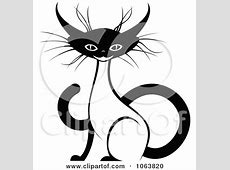 Clipart Sitting Siamese Cat Black And White 3 - Royalty ... Free Clipart Of Siamese Cats