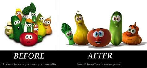 buying a new house vs old veggietales old vs new by bigfatloser86 on deviantart