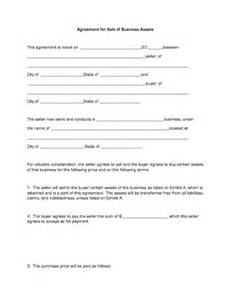 agreement for sale of business assets business forms