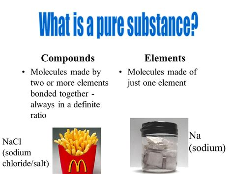 what is chagne made of pure substances vs mixtures physical and chemical changes