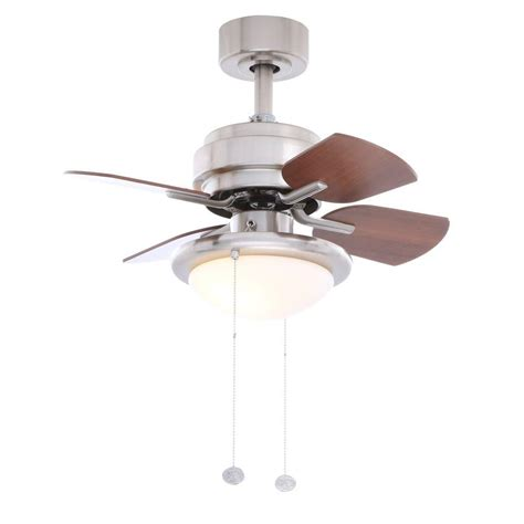 hton bay brushed nickel ceiling fan hton bay metarie 24 in indoor brushed nickel ceiling