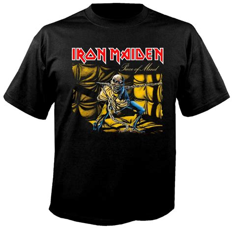 T Shirt Metal Iron Maiden iron maiden of mind t shirt metal rock t shirts