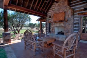 Rustic Patio Furniture Texas Texas Vacation Cabin Rustic Patio Other By Trestlewood