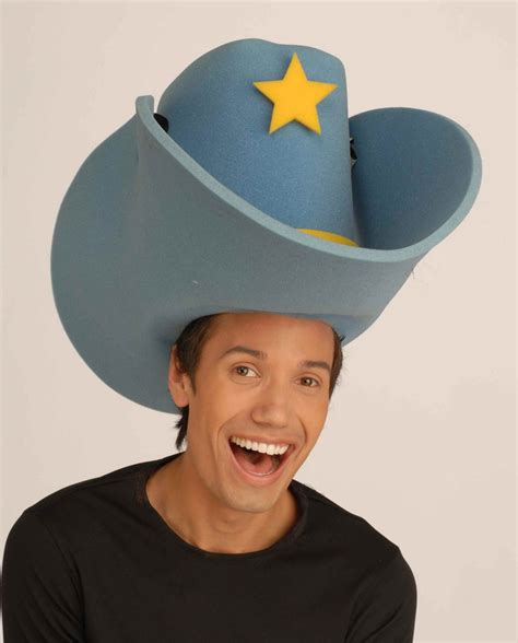 Christmas Decorations In The Home by Giant Foam Cowboy Hat