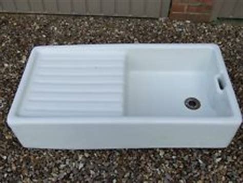 Belfast Sink With Integrated Drainer by Belfast Style Ceramic Sink With Integrated Drainer