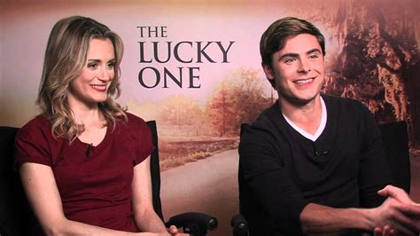 zac efron and taylor schilling the lucky one interview zac efron taylor schilling nicholas sparks and blythe
