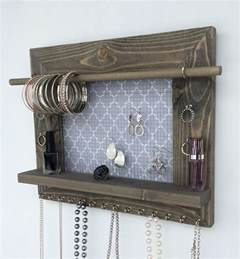 hanging jewelry organizer barn wood wall display holder