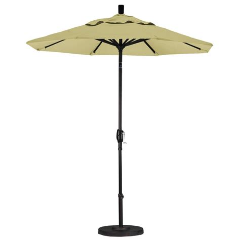 California Umbrella 7 1 2 Ft Fiberglass Push Tilt Patio 7 Ft Patio Umbrella