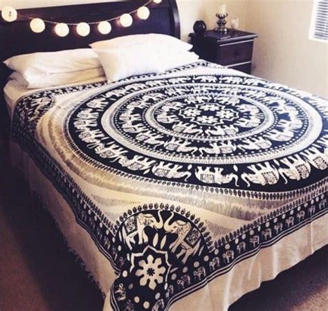 Indie Home Decor | home accessory blue black white elephant cover
