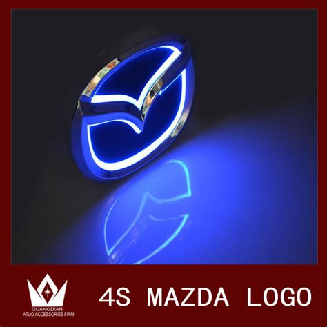 Promo Standar Sing Mio Chrome 17 guang dian 12cmx 9 55cm car led badge light car emblem led logo fit for mazda cx7 for mazda 8
