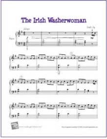 The irish washerwoman free piano sheet music digital print