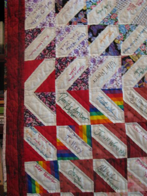 signature quilt for wedding guests