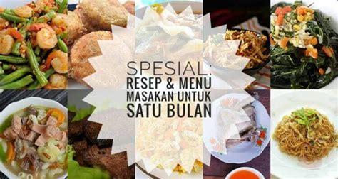 spesial resep menu masakan sehari hari   bulan