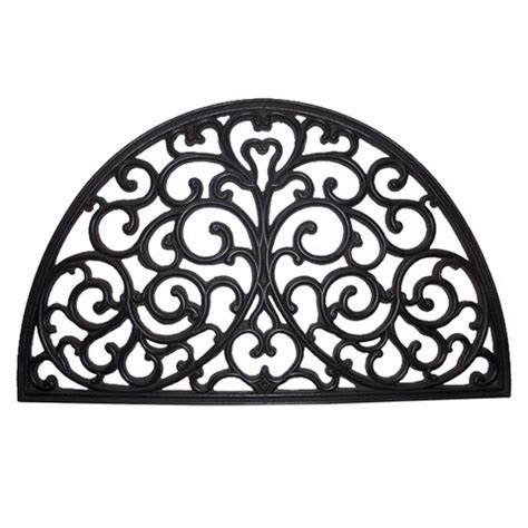 Decorative Rubber Door Mats Decorative Half Moon Black Rubber Door Mat Smi Target