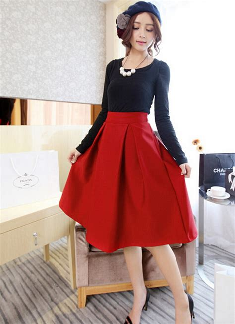 Big Skirt umbrella skirt picture more detailed picture about hepburn wind big swing pleated high