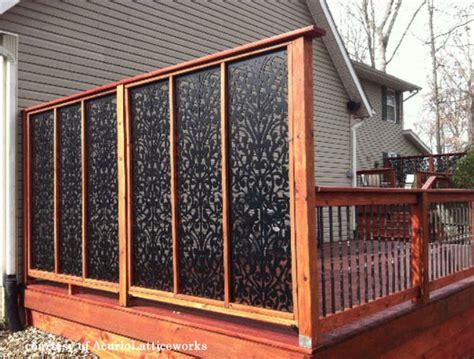privacy screens vinyl porch railing ideas for porches and decks