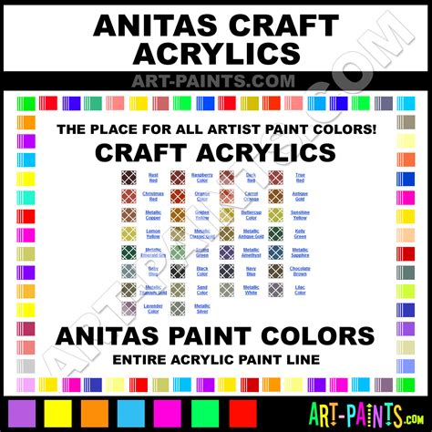 what is a good color to paint a living room anitas craft acrylic paint colors anitas craft paint