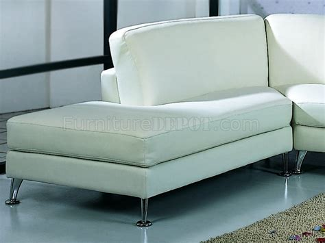Top Grain Leather Sectional Sofa White Top Grain Leather Upholstery Contemporary Sectional Sofa