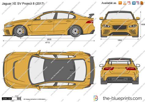 jaguar xe sv project  vector drawing