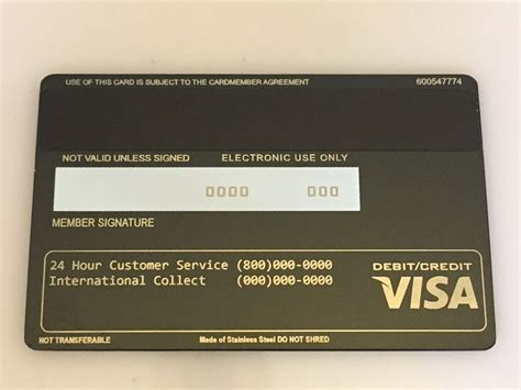 Visa Black Card Template by Order Now Metal Credit Card