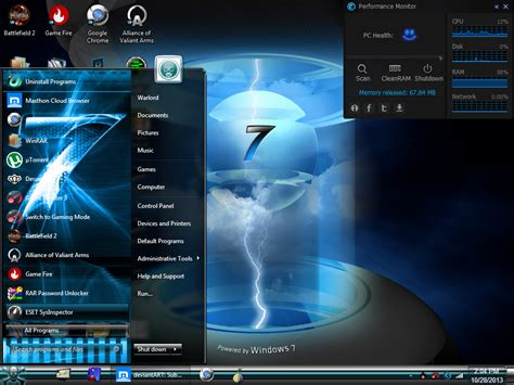 themes for windows 7 blue download new blue windows 7 themes visual style cool