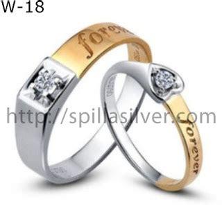 Fx Wedding Ring Silver Cincin Nikah 18 K Cincin 3 cincin kawin eksklusif w 18 cincin tunangan cantik