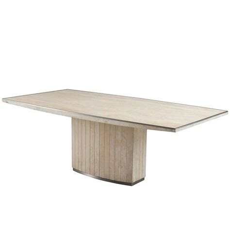 travertine dining room table willy rizzo travertine dining table for sale at 1stdibs