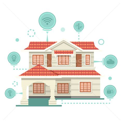 fresh smart home technology future 5196 smart home and control device vector illustration