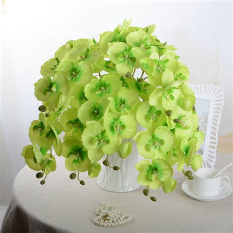 artificial flower for home decor artificial butterfly orchid silk flower home wedding decor