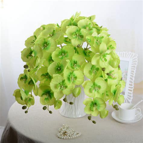 artificial flower home decor artificial butterfly orchid silk flower home wedding decor