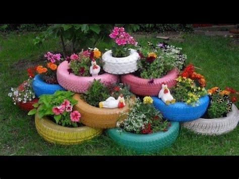 ideas para decorar un jardin con llantas de coche como decorar jardines con llantas recicladas youtube
