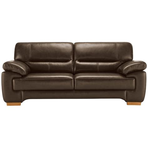 clayton 3 seater sofa in light brown leather oak