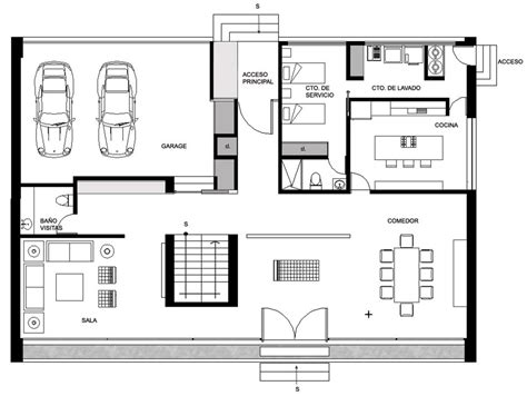 image of floor plan ground floor plan house hidalgo mexico bitar arquitectos