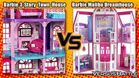 barbie malibu doll house barbie 3 story dream town house vs barbie malibu dreamhouse versusbattle com