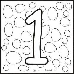 Motif Angka 4 mewarnai gambar angka 1 satu contoh gambar mewarnai
