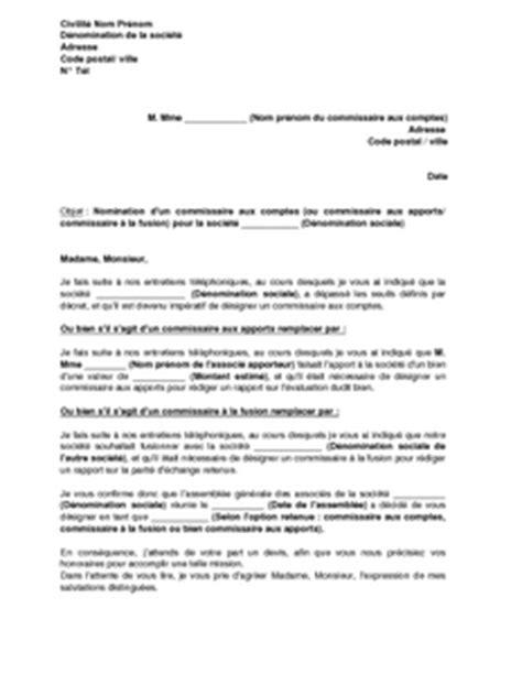 Lettre De Recommandation Commissaire Aux Comptes Lettre De Demande D Intervention D Un Commissaire Aux Comptes Mod 232 Le De Lettre Gratuit