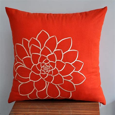 orange pillow cover decorative pillow cover throw pillow