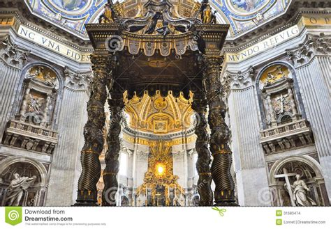 bernini baldacchino the altar with bernini s baldacchino in s
