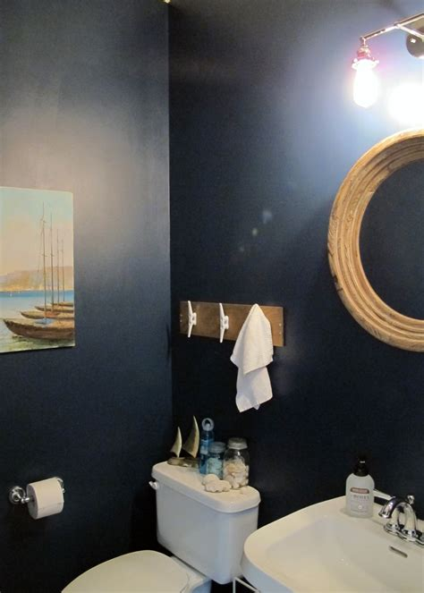 sailboat themed bathroom nautical themed half bath makeover tag tibby