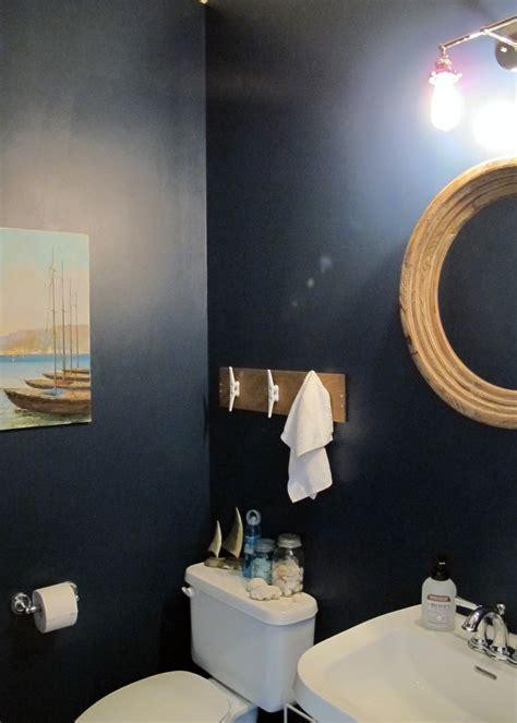 Nautical themed half bath makeover tag amp tibby
