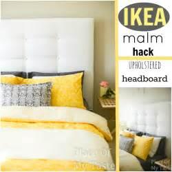 malm headboard hack ikea hacks a diy upholstered malm headboard