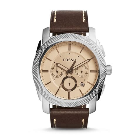 Fossil Fs5215 Machine Chronograp machine chronograph brown leather fossil