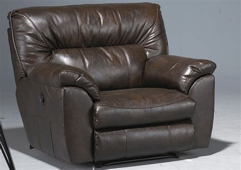 extra large leather recliner kemper sales nolan godiva bonded leather extra wide
