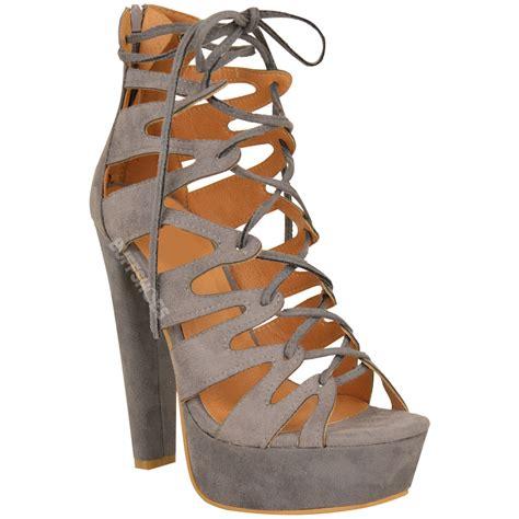 Platform High Heel Sandals new womens high heel platform gladiator sandals